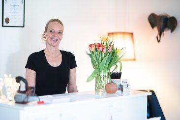 Receptionen med Ingrid Engström, Iyengar Yogacenter i Björkekäss Göteborg